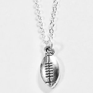 Jewelry - Football necklace on .925 Sterling Silver Chain